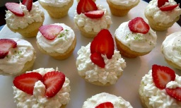 Strawberry Vanilla Mini Cupcakes